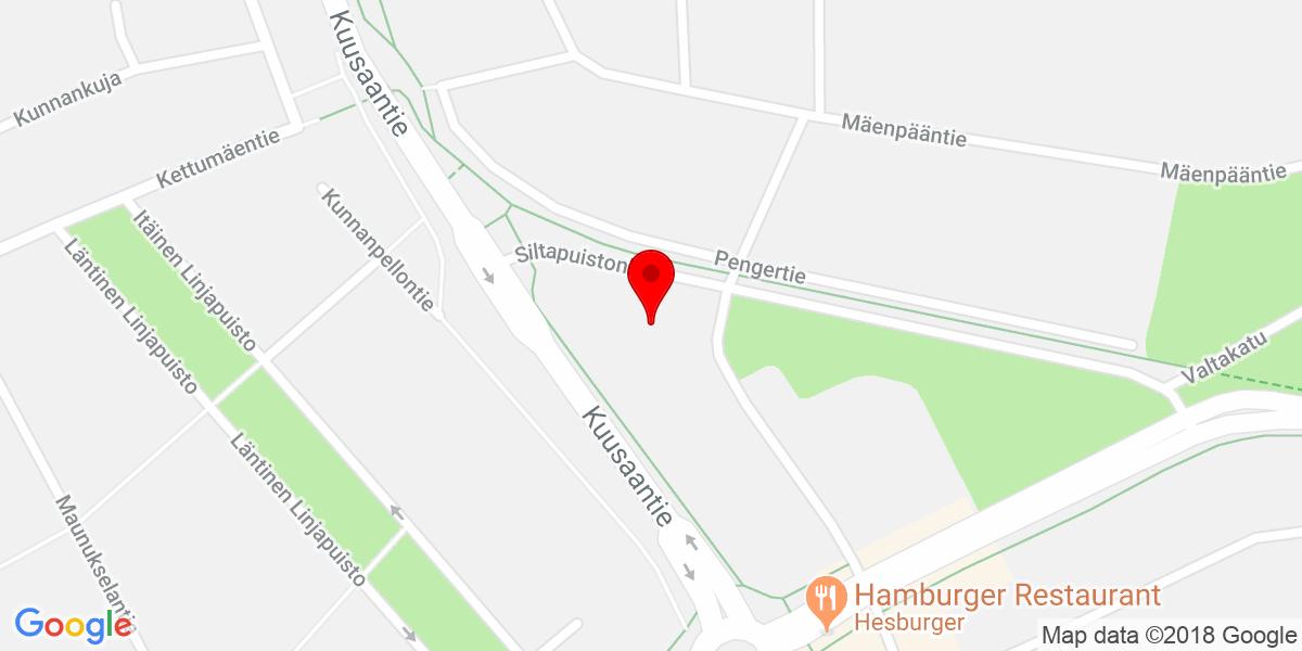Google Map of Kuusankoskenkatu 10, kuusankoski